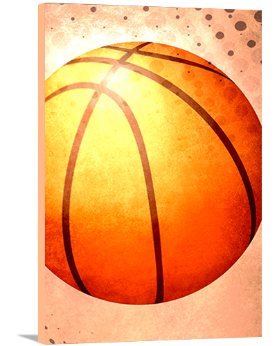 Basketball Modern Canvas Art