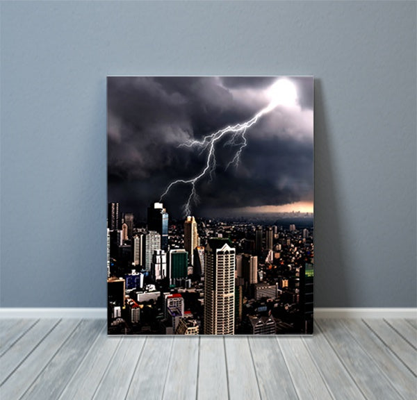 City Lightning Photography Canvas Art