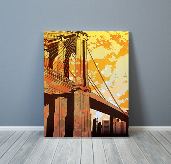 Retro NYC New York City Canvas Art