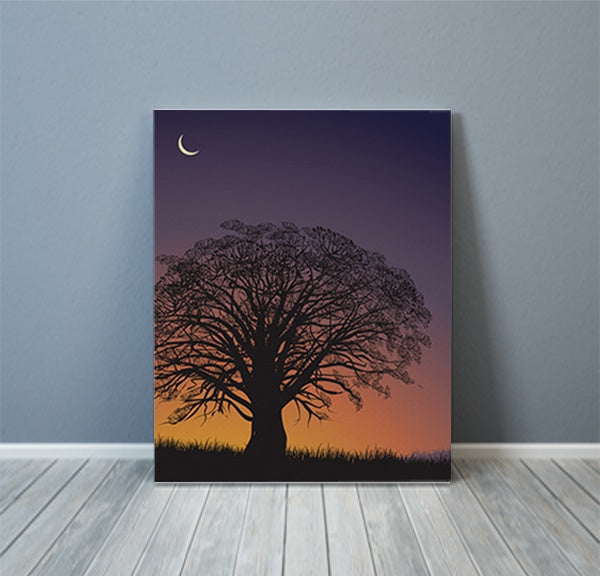 Savannah Forest Tree Nights Canvas Art