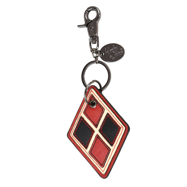 Harley Quinn Faux Leather Keychain