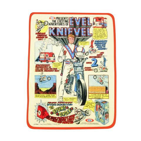 Evel Knievel Plush Throw