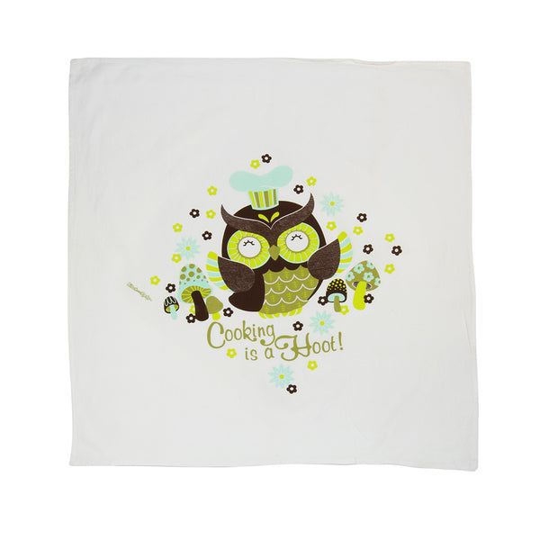 Flour Sack Towel - Cooking is a Hoot!