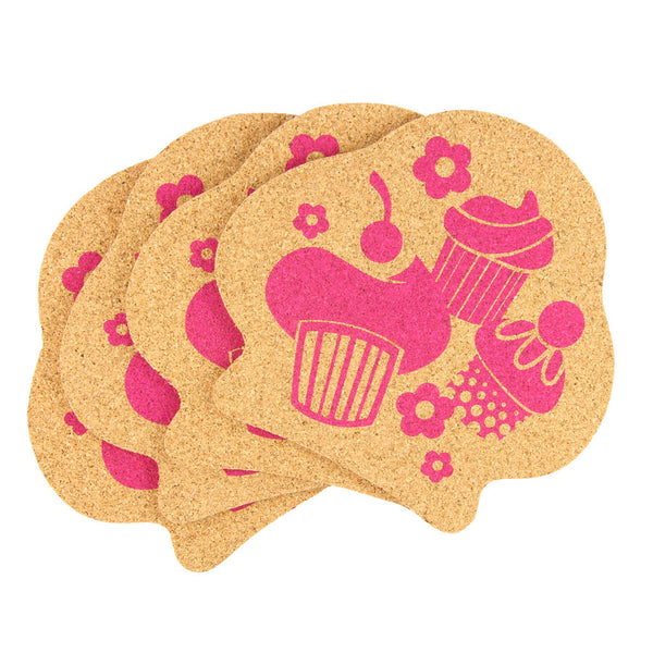 Reusable Cork Coasters - Cupcake Cluster