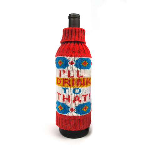'I'll Drink to That' Knit Liquor Cozy