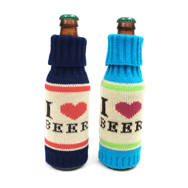 'I Love Beer' Knit Cozy