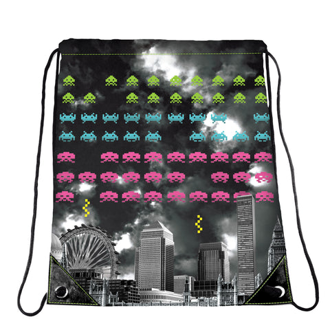Space Invaders Cinch Bag
