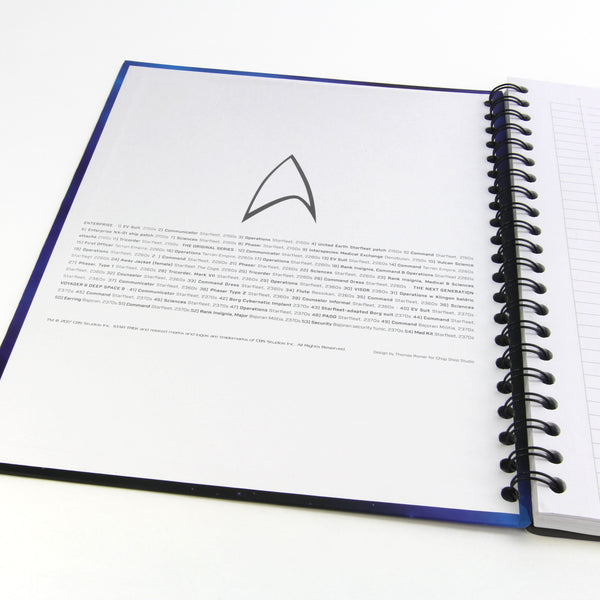 Uniforms & Equipment of Star Trek Notebook/Hardcover