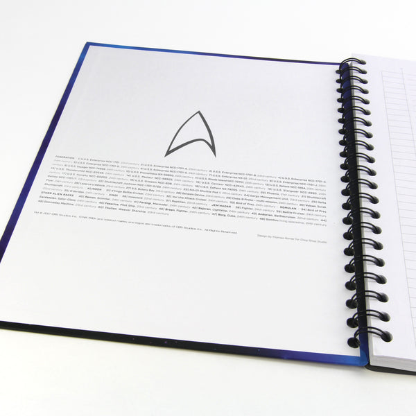 The Spacecraft of Star Trek Notebook/Harcover