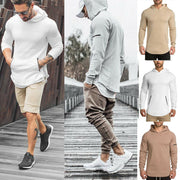 NEW Fashion Mens Autumn Winter Long Sleeve Hoodie Sweatshirt Gym Jacket Hooded Zip Up Pullover Jumper Coat Outwear Black White