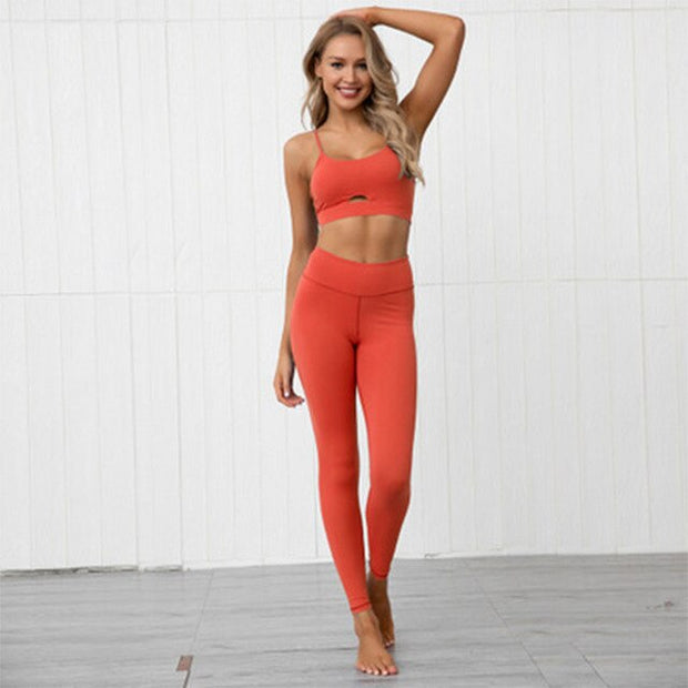 Solid Color Running Workout Set