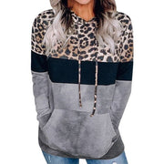 Women Leopard Print Female Sweatshirts