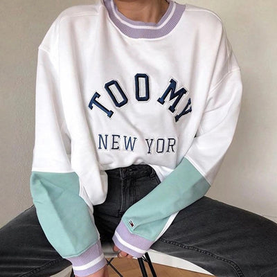 Sweatshirts New York Letter Print