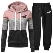 Women Sports Suit Hoodie