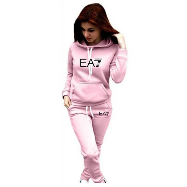 Pullover Hoodie+Pants Sports Suit