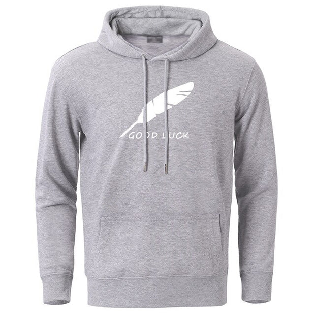 Good Luck Feather Simple Hoodies