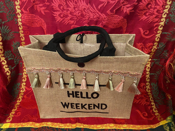 Tas 'Hello Weekend'