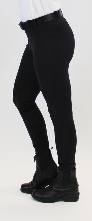 Signature Knee Patch Breeches Black Lava