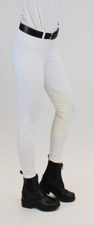 Signature Knee Patch Breeches Powder White