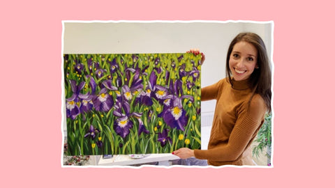 Painting Iris Field Landscape Abstract Colourful vibrant Judy Century Art