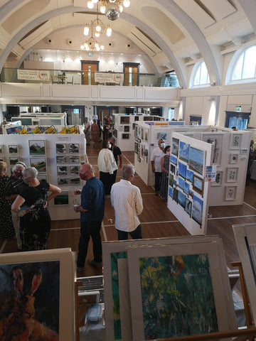 View of Hitchin Town Hall hosting Big Art Fair Gallery Exhibition