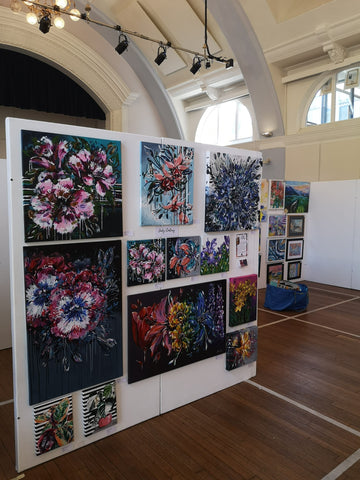 Judy Century Art Paintings display at Big Art Fair Exhibition in Hitchin