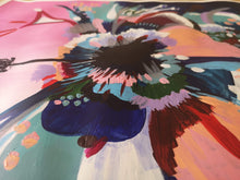Load image into Gallery viewer, Close up of abstract acrylic painting 'Hibiscus Sorbet' by Judy Century Art.