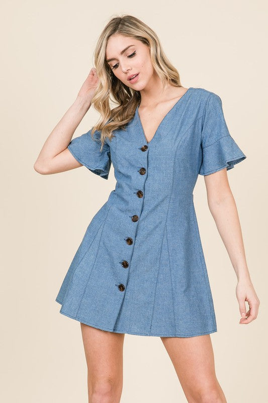 Sonia Denim Mini Dress