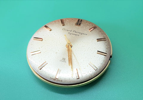 I've received a Girard Perregaux for repair and servicing. There was a funny 'clanking sound' when the owner wind the watch. This piece was left to him by his dad who had this watch since 1950.