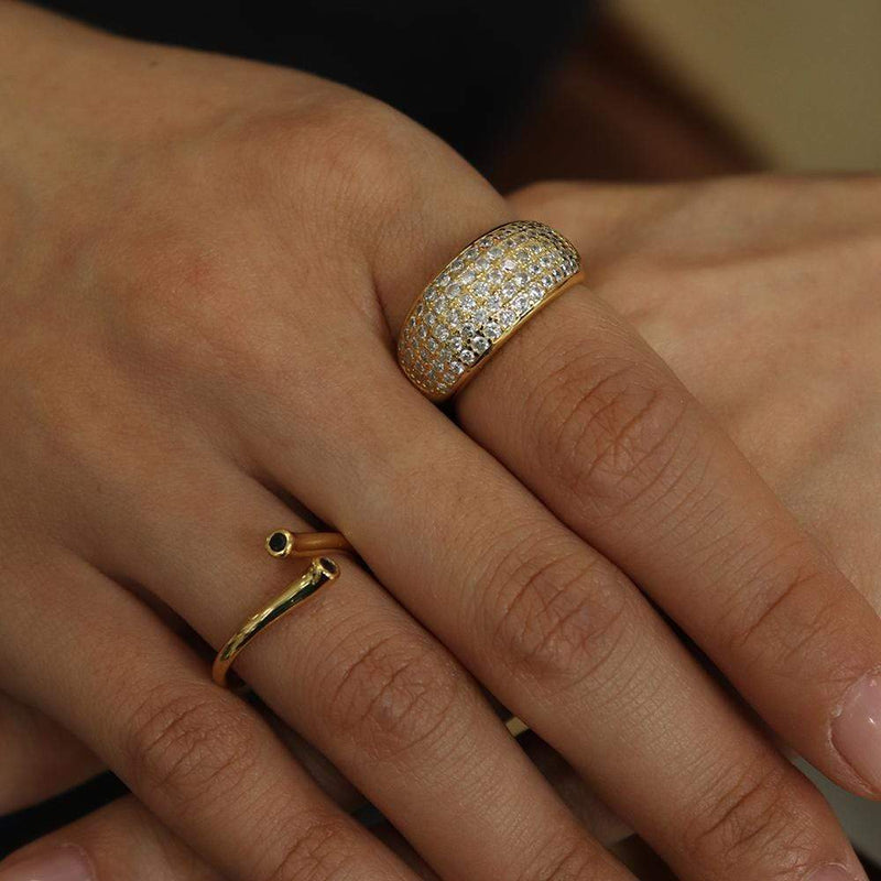 Chunky Pave Ring