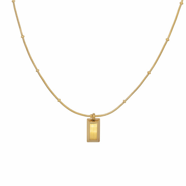 Gold Brick Necklace