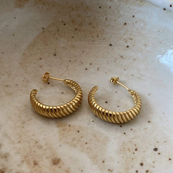 Chunky Twisted Hoops