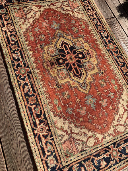 "Antique Finish Indian Rug, 3'0""x5'0"""