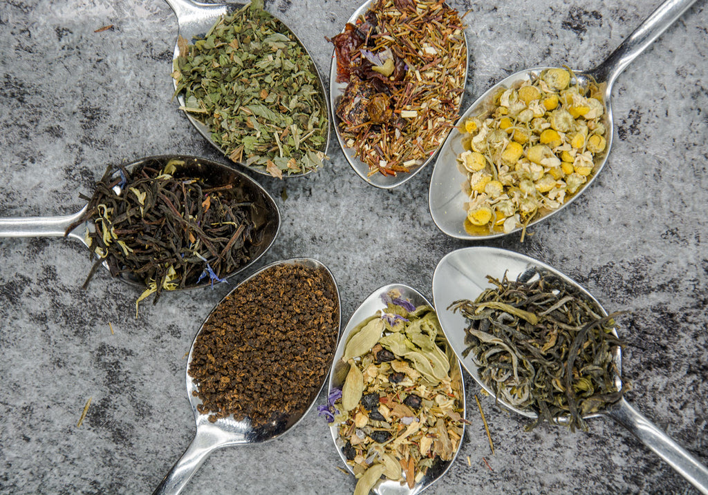 Different flavours of tea