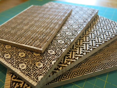 Patterned boards to use in making embossed covers