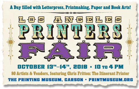 Los Angeles Printers Fair at the international print museum