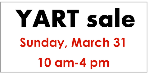 YART sale table reservation - March 31
