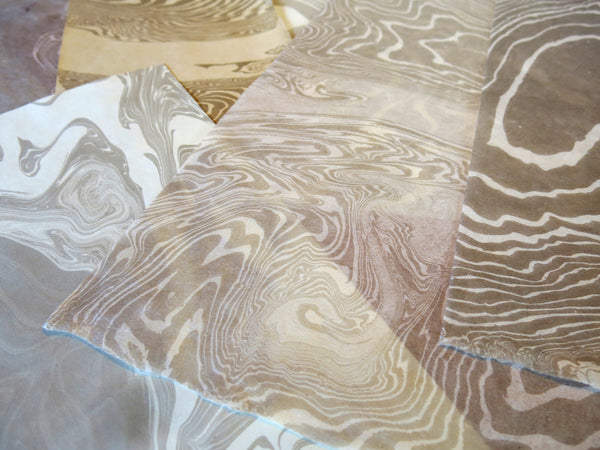 #4017 Suminigashi Paper Marbling, with Anne Covell - afternoon session, Dec 9
