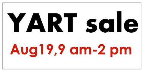 YART sale table reservation - Aug 19