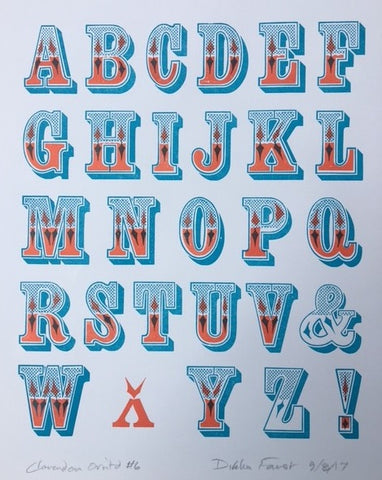 Chromatic Type, Letterpress Print