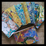 BookArtsLA workshop marbling