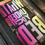 #7037 Type Slam, letterpress wood type - Jan 22 from 6 pm to 10 pm