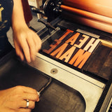 #7025 Type Slam, letterpress wood type - Dec 14 from 6 pm to 10 p