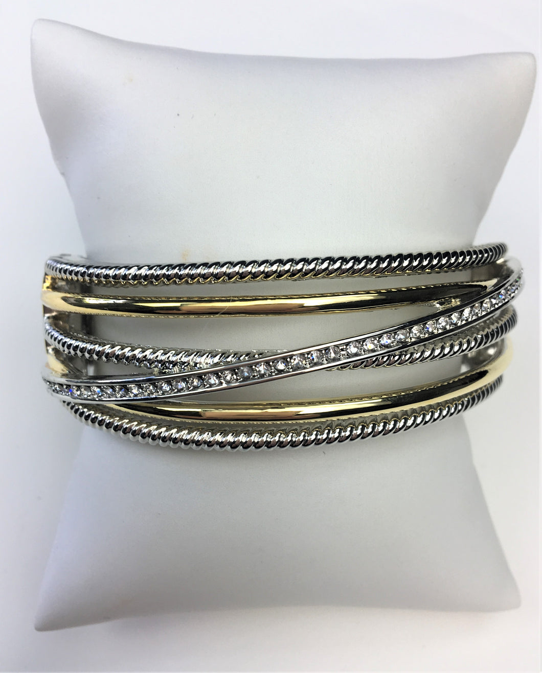 Yurman-Inspired Two-Tone Criss-Cross Bracelet