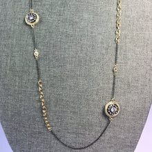 Load image into Gallery viewer, Armenta Inspired Black & Gold Disc Necklace