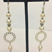 Load image into Gallery viewer, Freshwater Pearl Long Drop Earrings