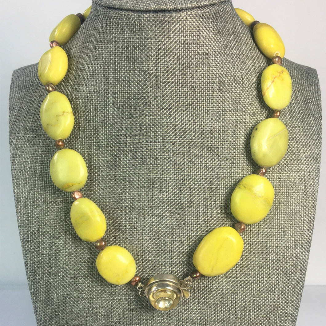 Chartruese Dyed Turquoise Necklace