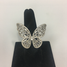 Load image into Gallery viewer, Gold or Silver Vermeil Butterfly Ring