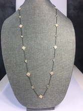 Load image into Gallery viewer, Pave Diamond Shaped Enhancers Necklace