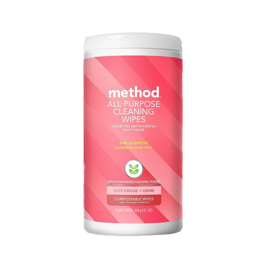 Method All Purpose Cleaning Wipes - Pink Grapefruit 70s